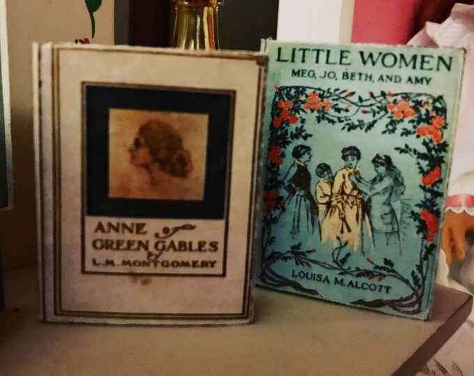 1:3 Scale Doll Sized Little Women & Anne of Green Gables mini books for American Girl Dolls
