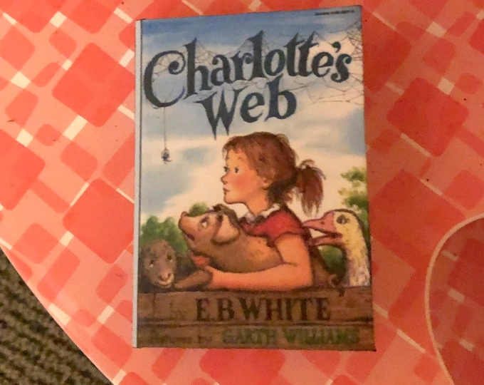 1:3 Scale Charlotte's Web doll sized mini book for American Girl Dolls