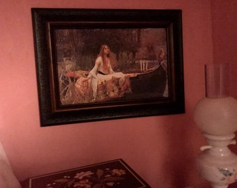 Framed The Lady of Shallot Dollhouse Art for American Girl