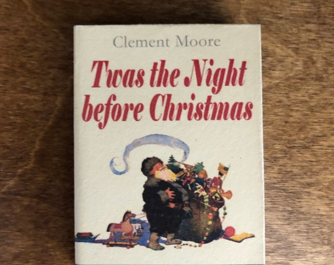 1:3 Scale T'was The Night Before Christmas doll sized mini book for American Girl Dolls