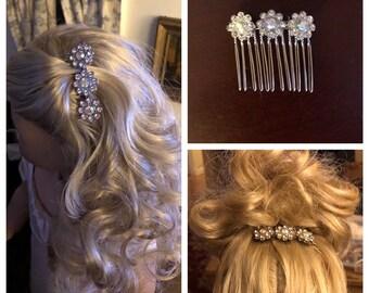 Diamond Flowered Hair Comb for American Girl Caroline