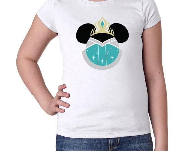 Elsa Mouse Ears Girls Tshirt