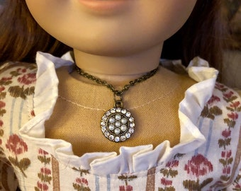 Antique Gold & Pearl Necklace for American Girl Dolls