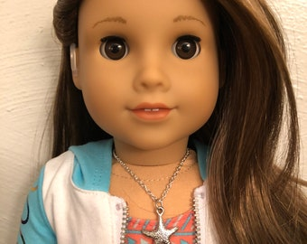 Silver Star Fish Necklace for 18 inch American Girl Doll of the year 2020 Joss Kendrick
