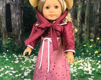 Pink Regency Era Dress & Bonnet