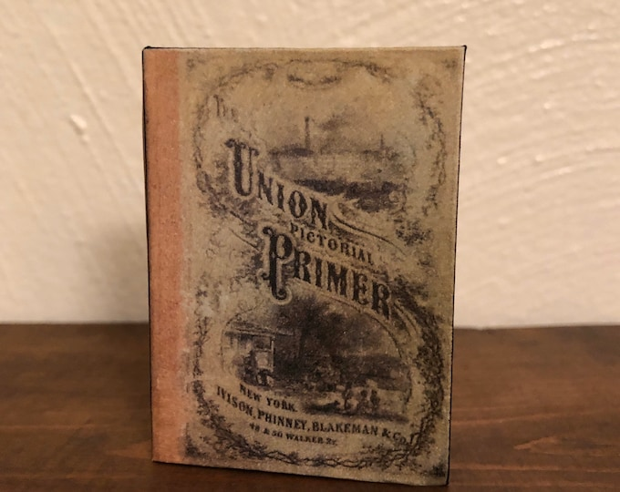 Union Pictorial Primer doll sized miniature school book for American Girl Dolls 1:3 Scale