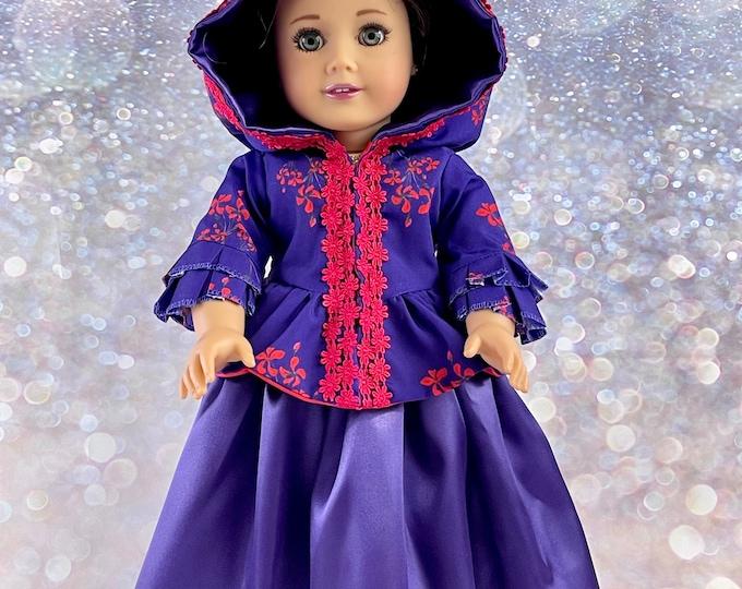 Outlander Inspired Claire Fraser Brunswick Jacket & Skirt for 18 inch American Girl Dolls (Custom Order 6-8 week turn around time)