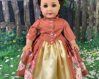 Outlander Claire Fraser's Dressage Gown for American Girl Dolls (Custom order 6-8 week turn around time)