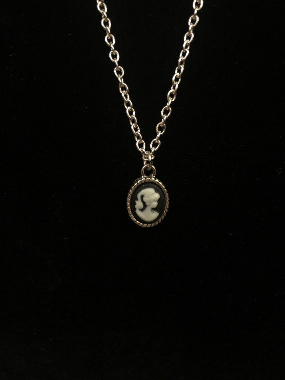 Silver Cameo Necklace for 18 inch American Girl Doll Felicity