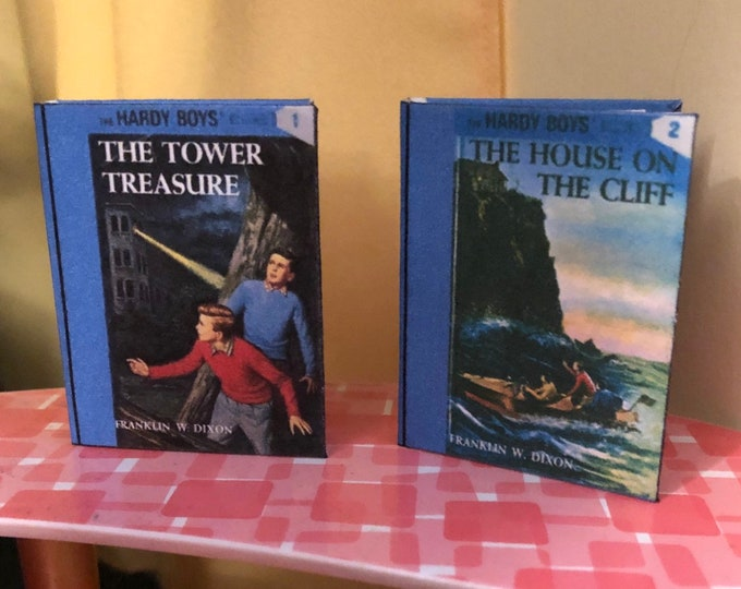 Hardy Boys Mini books 1 & 2 for American Girl 18 Inch Dolls 1:3 Scale