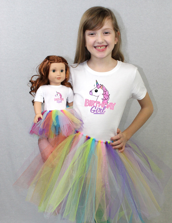Pink Unicorn Tshirt  /& Tutu for 18 inch American Girl Dolls