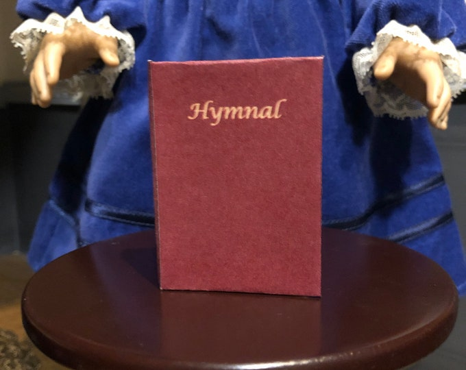 Christian Hymnal 1:3 scale miniature book for 18 inch American Girl Dolls