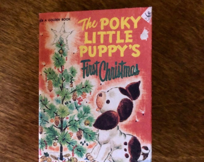 1:3 Scale Poky Puppy's 1st Christmas doll sized mini book for American Girl Dolls