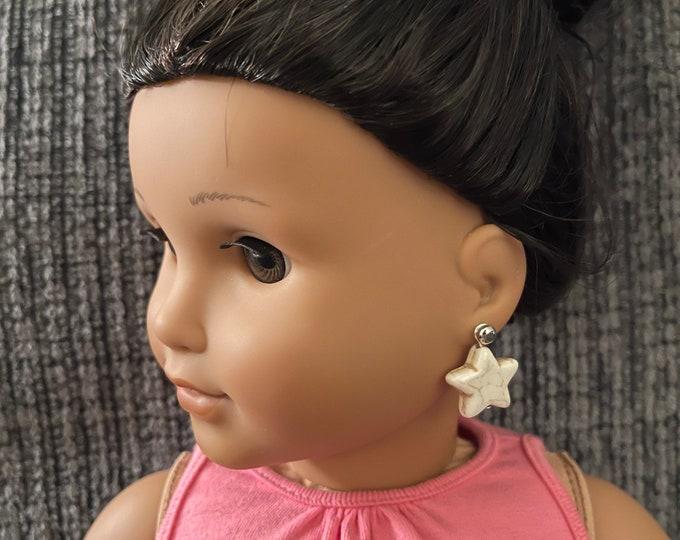 White Star Earring Dangles for 18 inch American Girl Dolls (Dangles Only)