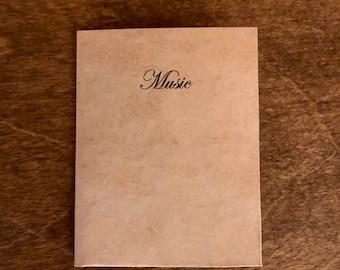 Mini Sheet Music and Folder for American Girl Dolls