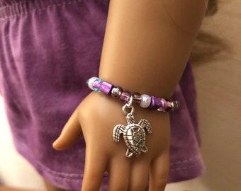 Turtle Charm Bracelet for American Girl Lea