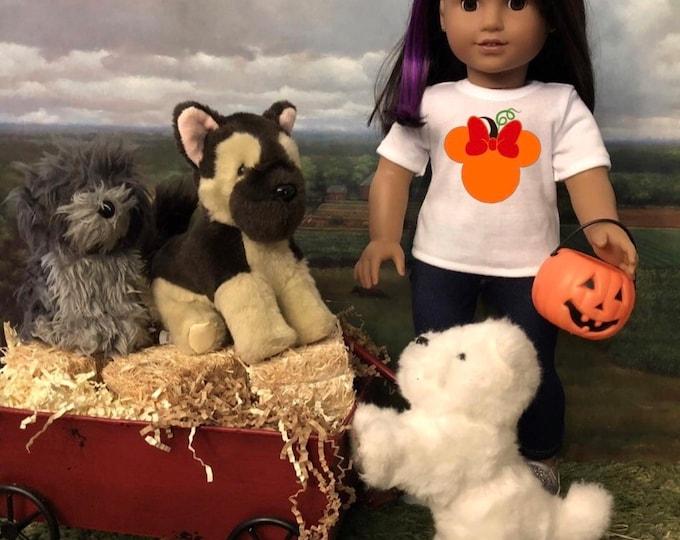Minnie Mouse Ears Pumpkin Disney Tshirt for American Girl Dolls