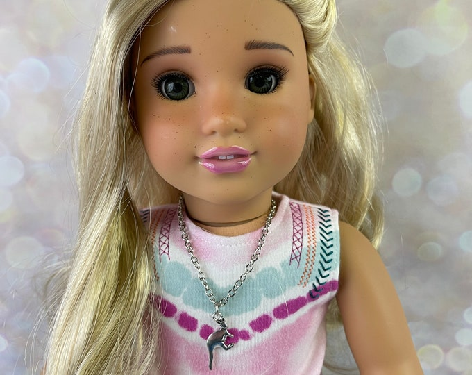 Kangaroo & Baby Joey Silver Necklace for American Girl Kira Bailey Girl of the Year 2021