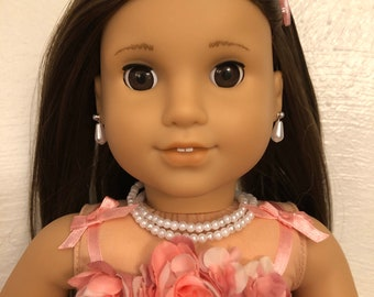 Double Strand Pearl Necklace for 18 inch American Girl Dolls