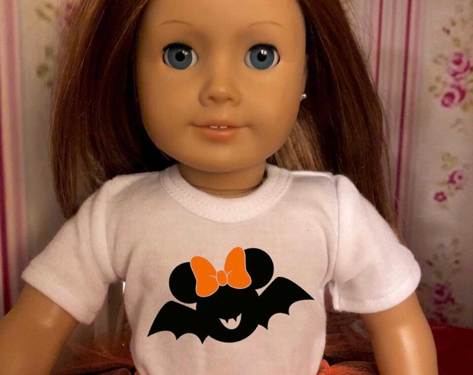 Mouse Ears Bat Halloween Doll Tshirt for American Girl Dolls