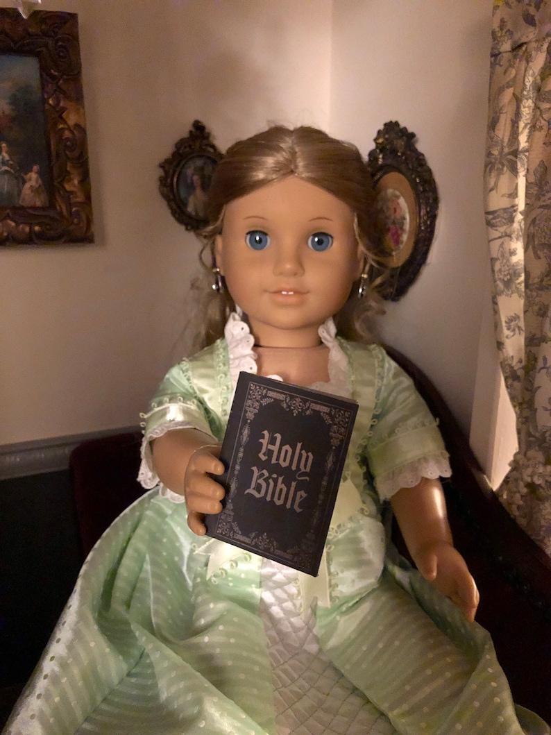 1:3 Scale A Christmas Carol doll sized mini book for American Girl Dolls