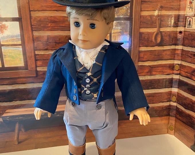 """Regency Era suit for 18"""" American Girl boy doll"""