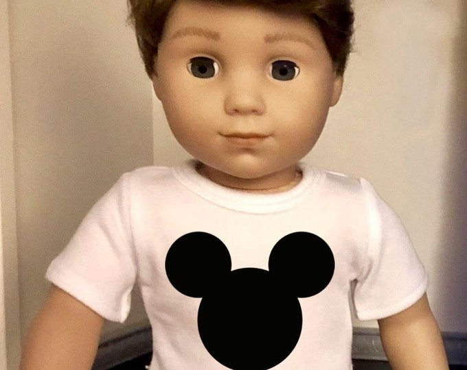 Mouse Ears Doll Tshirt for American Girl Doll Logan