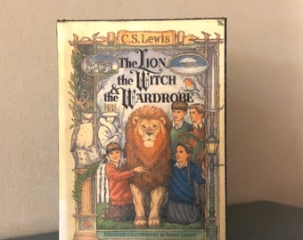 1:3 Scale Chronicals of Narnia, The Lion The Witch and the Wardrobe doll sized mini book for American Girl Dolls