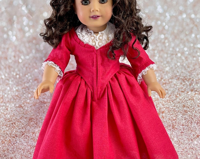 Outlander inspired 1770's Claire Fraser 'Drums of Autumn' Gown for 18 Inch American Girl Dolls (Made to Order)