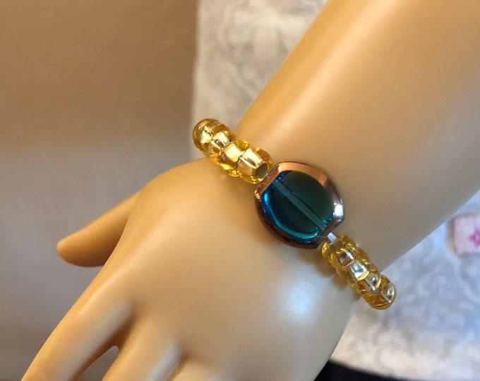 Emerald Charm Bracelet for American Girl Dolls