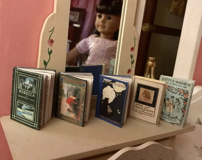 Miniature Classic Books for American Girl Samantha 18 in Doll Book 1:3 Scale