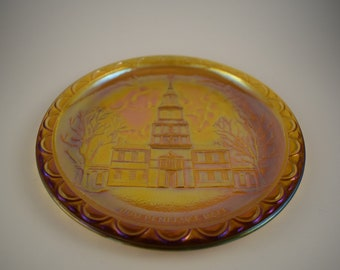 Indiana Glass Bicentennial Independence Hall Plate