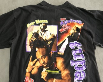 Rare! Vintage 90s TUPAC Shirt ⋆ S-L Great Condition Black/Multicolor Vintage 2PAC Shakur Shirt Hip Hop Vintage Rap Tee Streetwear Fashion