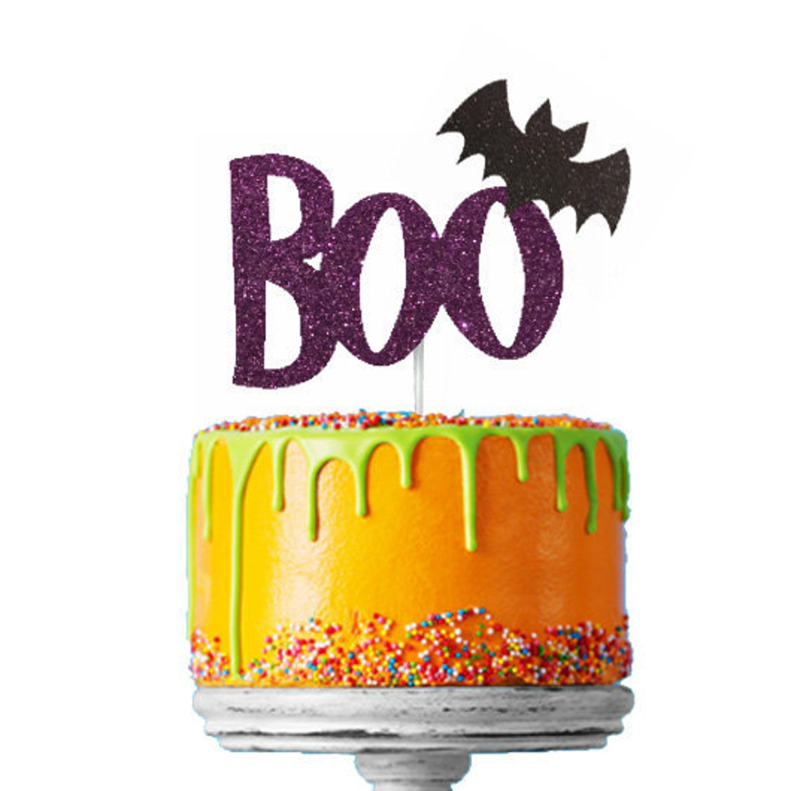 Boo Bat Cake Picks