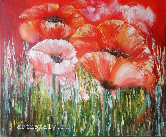 Red flower print flower printable art red poppies floral print etsy image 0 mightylinksfo