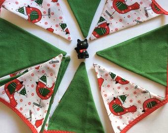 Christmas robin bunting