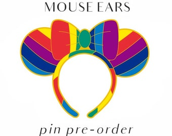 PREORDER - Rainbow Mouse Ears Pin - IN PRODUCTION