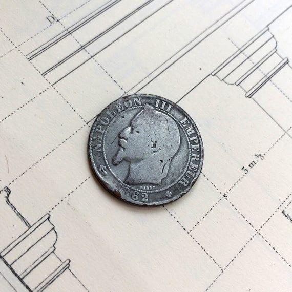 Frankreich 5 Rappen 1862 Alte Französische Münze Napoleon Iii Europäische Münze