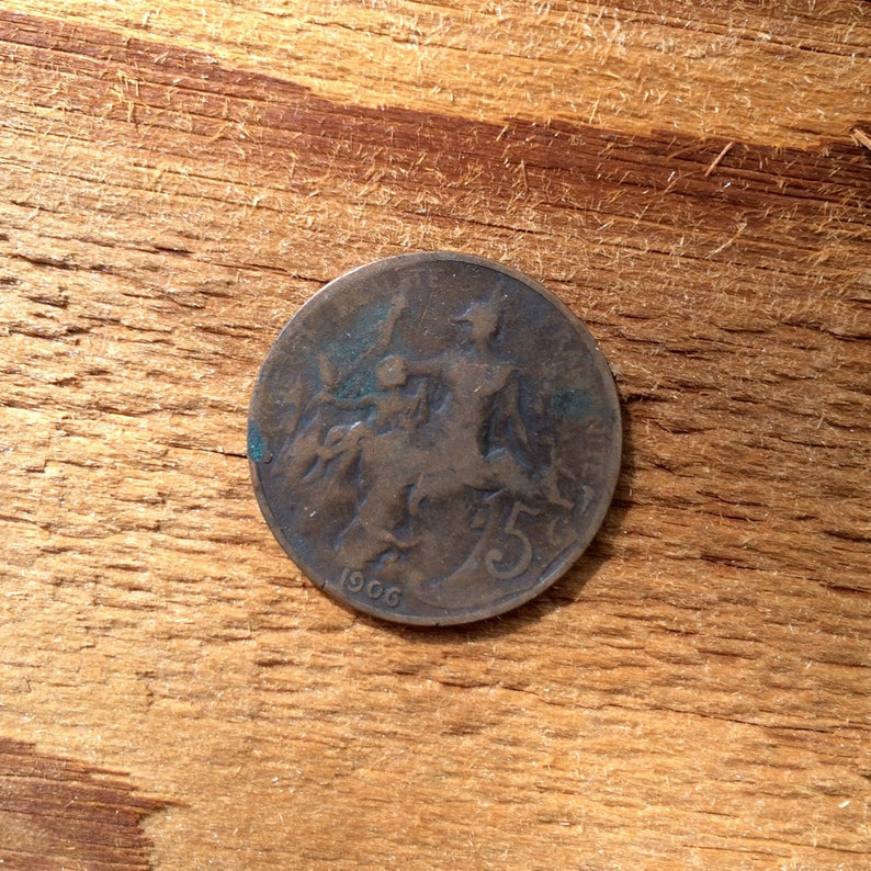coin France 5 centimes 1906