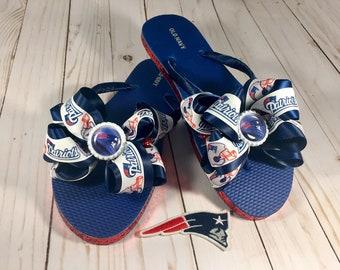ee958415a783 Bottle Cap Flip Flops New England Patriots Inspired