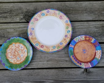 Sango Potpourri Mix & Match by Sue Zipkin Lot Dinner Plate - 2 Salad Plates