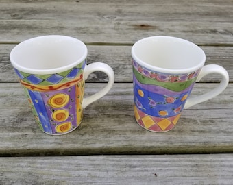 Sango Sweet Shoppe by Sue Zipkin Pair of Coffee Mugs