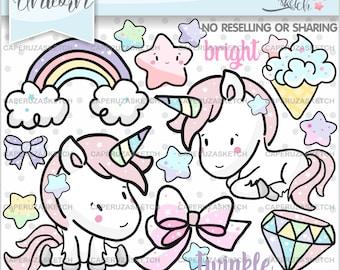 Unicorn clip art   Etsy