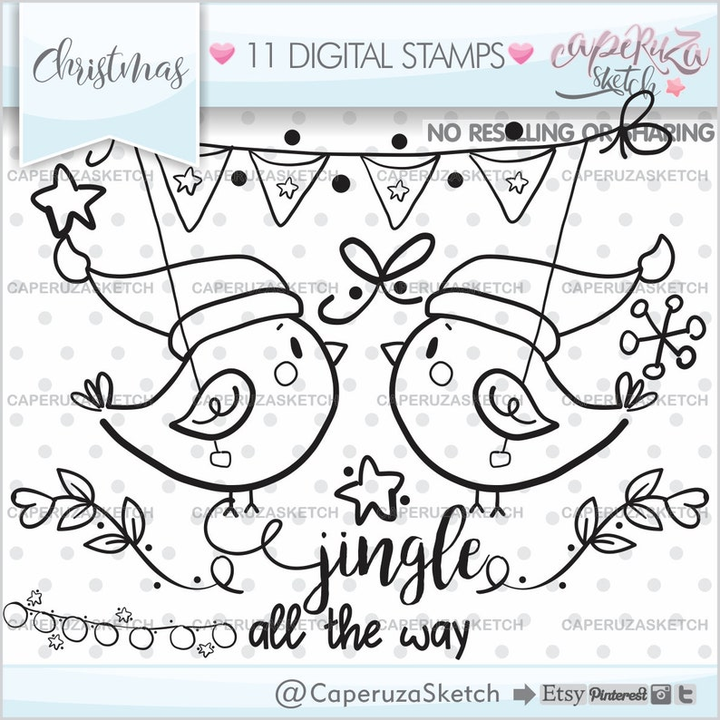 Google Bilder Weihnachtsmotive.Christmas Birds Stamps Birds Stamps Christmas Stamps Commercial Use Animal Stamps Christmas Digital Stamps Digistamps Coloring Pages