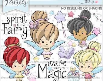Fairy Clipart, Fairies Clipart, COMMERCIAL USE, Spring Clipart, Magic Wand Clipart, Spring Fairy Clipart, Fairy Graphics, Fairy Clip Art