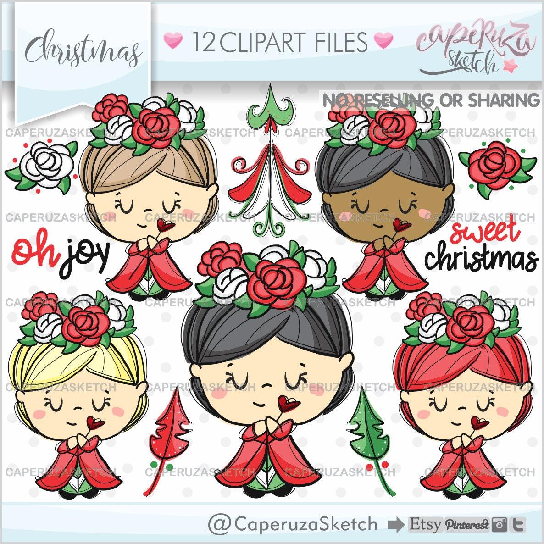 Weihnachten ClipArt Weihnachten Grafiken Scrapbooking | Etsy