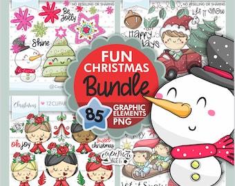 Christmas Bundle, Christmas Clipart, Clipart Bundle, Christmas Bundle PNG, Bundle Christmas, Christmas Images, Christmas Decor, Bundle Set