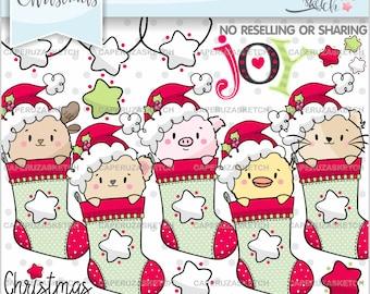 Christmas Clipart, Christmas Graphics, COMMERCIAL USE, Christmas Clip Art, Christmas Party, Christmas Animals Clipart, Animals Clipart