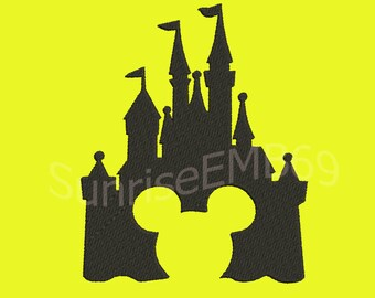 9 Sizes**Disney Castle  Embroidery design- 7 formats machine embroidery design - Instant Download machine embroidery pattern