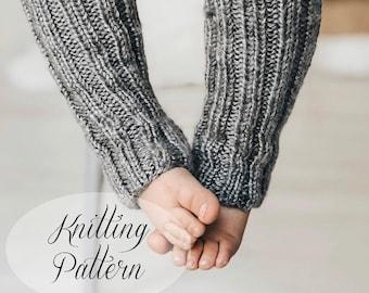 KNITTING PATTERN // Taylor Baby Leg Warmers // Wrist Warmers // Beginner Knitter